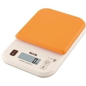 クッキングスケールタニタ デジタル1kg(1g単位) オレンジ KJ-110SOR|livingheart