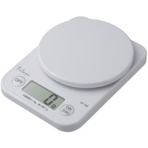 クッキングスケール タニタ デジタル1kg/1g ホワイト KF-100-WH|livingheart