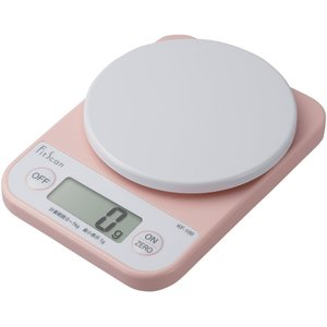 クッキングスケール タニタ デジタル1kg/1g ピンク KF-100-PK|livingheart