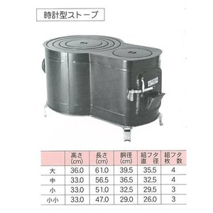 マキストーブ 時計型 大 大和金属 太陽印1台箱入|livingheart