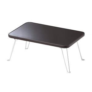 ミニテーブル4530UVブラウン N−8662 パール金属|livingheart