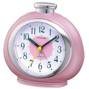 目覚まし時計 フルーティ アナログ表示 16曲メロディーアラーム ピンク T-379PK-Z MAG|livingheart