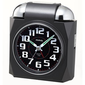 大音量目覚まし置き時計 ベルアタック ブラック T-656 BK-Z MAG|livingheart