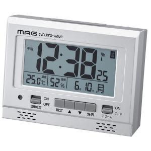 電波目覚まし時計 エアサーチグッドライト デジタル表示 シルバーメタリック T-694SM-Z MAG |livingheart