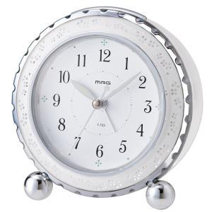 目覚まし置き時計 アルブラン ホワイト T-723 WH-Z MAG|livingheart