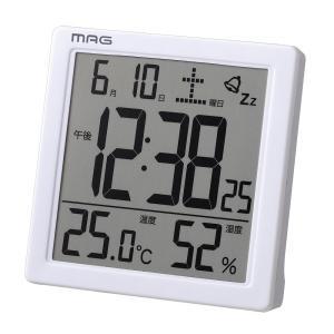 デジタル置き時計 カッシーニ ホワイト T-726 WH-Z MAG |livingheart
