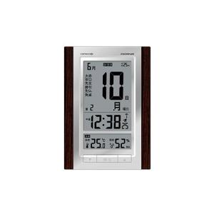 電波時計  MAG  エアサーチ機能付デジタルロゼッタ  日めくりカレンダー ブラウン  W-607 BR|livingheart