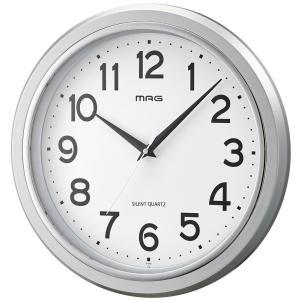 壁掛け時計 MAG   モアマグ アナログ表示 連続秒針 シルバー W-648 SM-Z|livingheart