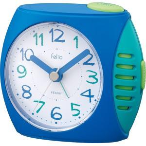 目覚まし時計 ペンパル アナログ表示 連続秒針 ブルー  FEA167 BU-Z Felio|livingheart