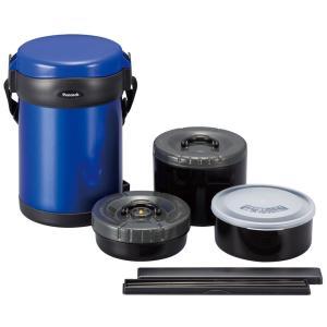 保温ランチジャー ブルー 縦型タイプ ステンレスランチジャー ARL-18(A) ピーコック魔法瓶工業|livingheart