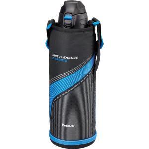 ステンレスボトル ストレートドリンク (ポーチ付き) 1.5L ブルー AJC-F151A ピーコック livingheart