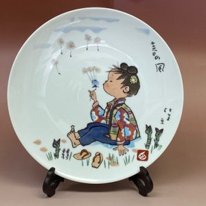 NORITAKE ノリタケ 日本陶器会社 西原比呂志デザイン 春の風 絵皿 径26.5cm livingts