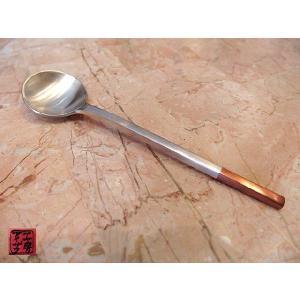 スプーン アイザワ工房 カトラリー 純銅銀仕上 ティースプーン、シュガースプーン 純銅シリーズ(1400-3)|livingts