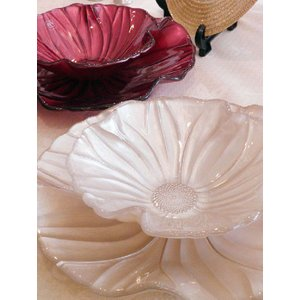 IVV イタリア製 ガラスプレート 皿&ガラスボールセット MAGNOLIA(マグノリア) パールアイボリー|livingts
