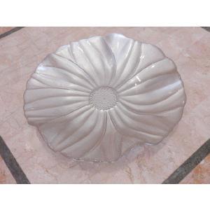 IVV イタリア製 ガラスプレート 皿 MAGNOLIA(マグノリア)28cm パールアイボリー|livingts