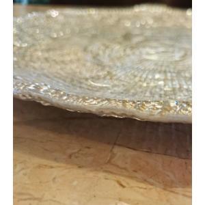 IVV イタリア製 ガラス皿 Diamante ディアマンテ シャンパンゴールド 22cm プレート(6246_8)|livingts|02