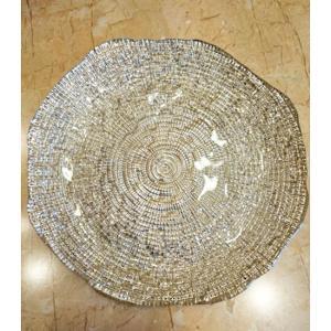 IVV イタリア製 ガラス皿 Diamante ディアマンテ シャンパンゴールド 22cm プレート(6246_8)|livingts|05