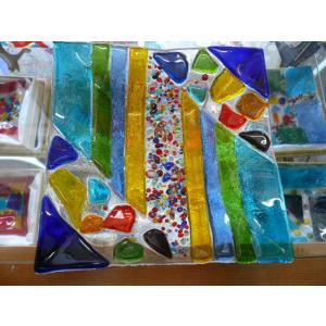 ガラス皿 イタリアのデザイナーが手がけたハンドメイドアートプレート 手作りプレート ハンドメイド 選べる6種類 14cm×14cm|livingts|06