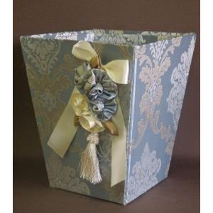 JENNIFER TAYLOR Ciel ジェニファーテイラー ダストBOX  布製 タッセル付きダストボックス マガジンラック フリーボックス(32972db)|livingts