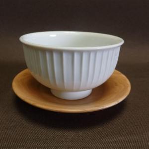 白山陶器 湯呑 白磁縦筋 汲出(蓋なし)170ml 波佐見焼  |livingts