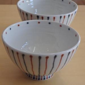 白山陶器 二色十草 波佐見焼 茶碗 飯碗 大小|livingts