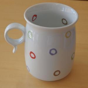 白山陶器 Q型マグ AB-10 マグカップ カラフル ドット白磁 波佐見焼|livingts