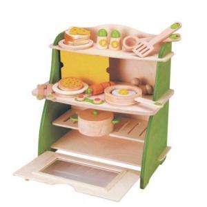 マイファーストキッチン  天然木 安全基準玩具|livingts