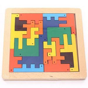 モザイク ZOO パズル 天然木 安全基準玩具|livingts