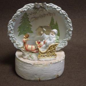 クリスマスドームLEDライト そりに乗るサンタ  クリスマスプレゼント クリスマスインテリア|livingts