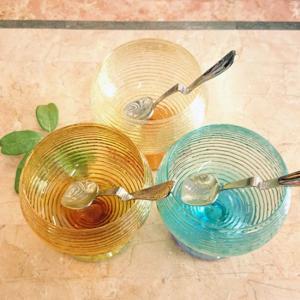 IVV イタリア製 デザートグラス  MULTICOLOR マルチカラー アイスクリームグラス カップ|livingts