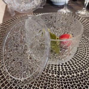 IVV Arabesque ガラス蓋物 キャニスター キャンディーボックス イタリア製|livingts