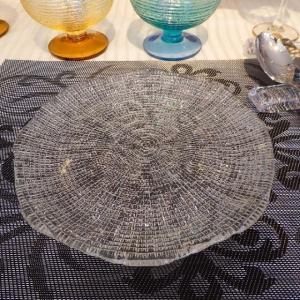 IVV イタリア製 皿 ガラス皿 Diamante ディアマンテ クリア 22cmプレート6246_1|livingts