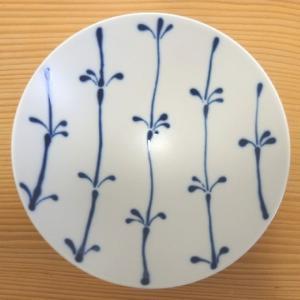 平茶碗(白×紺 ストライプST17)白山陶器 波佐見焼|livingts