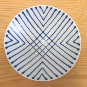 平茶碗(白×紺 ストライプST20)白山陶器 波佐見焼|livingts