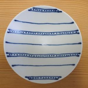 平茶碗(白×紺 ストライプST28)白山陶器 波佐見焼|livingts