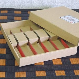 木製 菓子切り 5本セット 箱入り|livingts