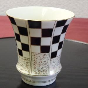 有田焼 祝い市松(黒)日本酒グラス 酒カップ 匠の蔵 淡麗 有田焼  ARITA 得トクセール livingts