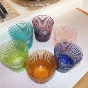 IVV イタリア製 グラス タンブラー SPEEDY コップ6色セット MULTICOLOR マルチカラー カップ|livingts