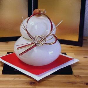 粋工房 鏡餅 (大) 博多びーどろ 正月飾り|livingts
