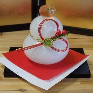 鏡餅(小)博多びーどろ 正月飾り 粋工房 livingts