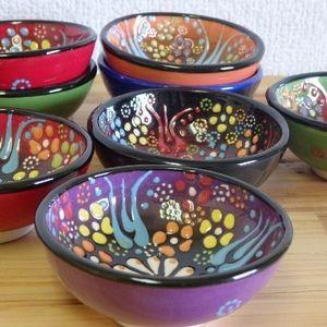 【訳あり特価】トルコボウル ミニボウル ハンドメイド  選べる6色 トルコ陶器|livingts