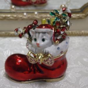 クリスマスジュエリーケース 子猫モモのクリスマス クリスマス長靴 クリスマスプレゼント【限定品】|livingts