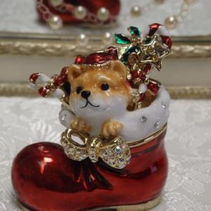 クリスマスジュエリーケース 柴犬フクのクリスマス クリスマス長靴 クリスマスプレゼント【限定品】|livingts