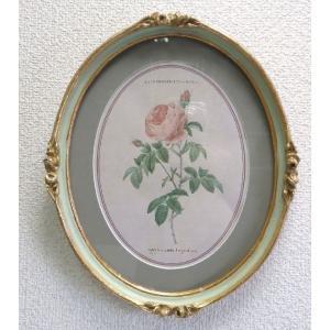 壁掛け ルドゥーテ ボタニカルアート 薔薇の壁飾りA|livingts
