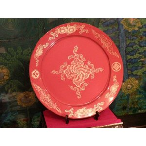 1点限り 本輪島朱塗り 大皿鉢 飾り皿 伝統工芸品【中古】|livingts