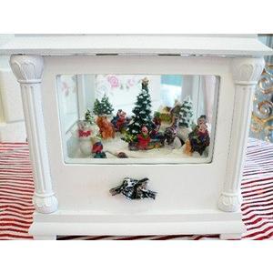 白いクリスマスミュージックボックス|livingts