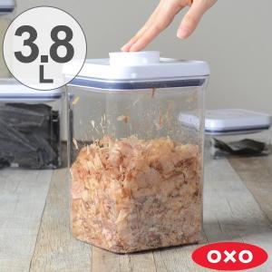 OXO オクソー ポップコンテナ ビッグスクエア ミディアム 3.8L ( 保存容器 密閉 プラスチック 透明 )|livingut