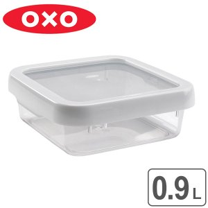 OXO オクソー ロックトップコンテナ 0.9L M スクエア ( 900ml 保存容器 食洗機対応 電子レンジ対応 ) livingut