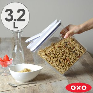 OXO オクソー ポップディスペンサー M 3.2L ( 保存容器 密閉 プラスチック 透明 )|livingut