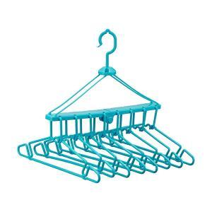 洗濯ハンガー 折りたたみ8連ハンガー ( 物干しハンガー 8連ハンガー まとめ干し )|livingut